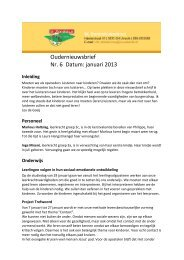 Oudernieuwsbrief Nr. 6 Datum: januari 2013