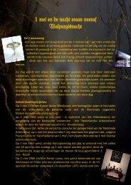 1 mei en de nacht eraan vooraf Walpurgisnacht - Bijbels perspectief