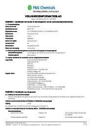 veiligheidsinformatieblad - P&G Chemicals