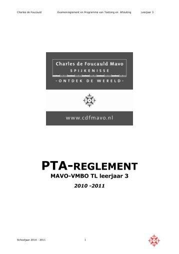 Examenreglement en Programma van Toetsing en Afsluiting