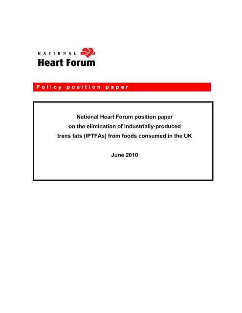 Draft - for discussion - National Heart Forum