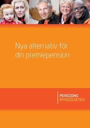 Folder om de nya alternativen - Pensionsmyndigheten