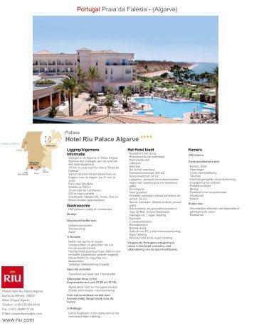 Hotel Riu Palace Algarve Portugal Praia da Falésia ... - Boekzelf.nl