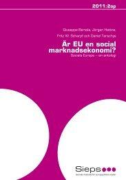 Är EU en social marknadsekonomi? Sociala Europa - Sieps