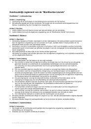"""Huishoudelijk reglement van de """"Montfoortse IJsclub"""""""