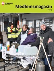 Medlemsmagasin 2013-1 - IF Metall