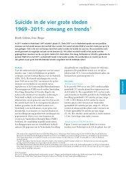 Suïcide in de vier grote steden 1969 - 2011: omvang en trends