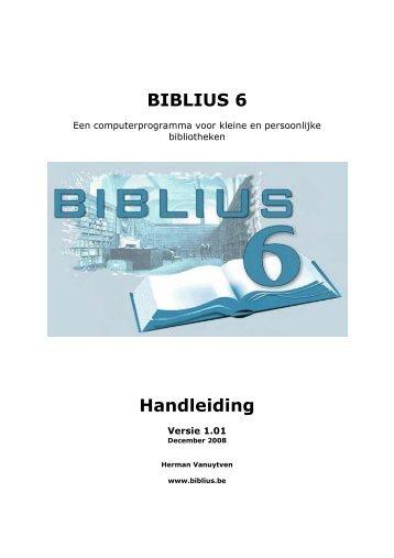 Download de handleiding van BIBLIUS 6