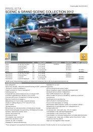 prislista scenic & grand scenic collection 2012 - Upplands Motor