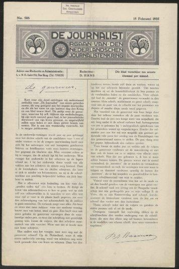 Int. Instituut Soc Geschiedenis Amsterdam No* 508 15 Februari ...