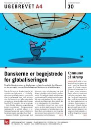 Danskerne er begejstrede for globaliseringen - Ugebrevet A4