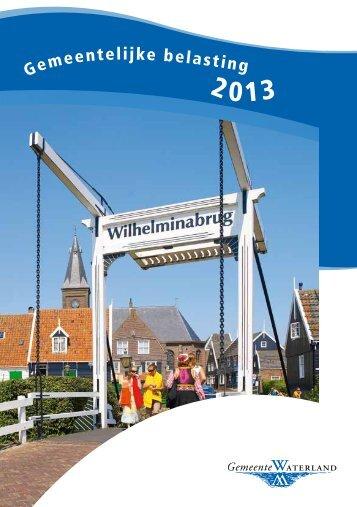 Belastingfolder 2013 - Gemeente Waterland