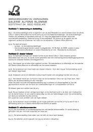 Gebruiksreglement en -voorwaarden Galerie ... - Stad Roeselare