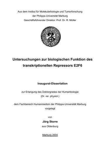 Untersuchungen zur biologischen Funktion des transkriptionellen ...