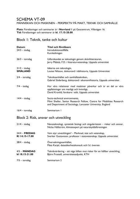 Schema 090317 - Uppsala universitet