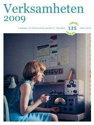 Verksamheten 2009 - Svenska litteratursällskapet i Finland rf.