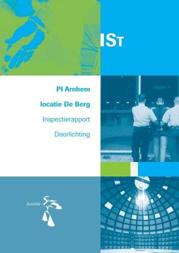 Inspectierapport PI Arnhem locatie De Berg 2006