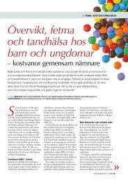 Övervikt, fetma och tandhälsa hos barn och ... - Nordisk Nutrition