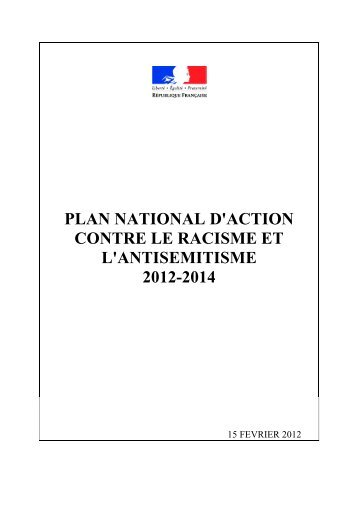 Plan national d'action contre le racisme et l'antisémitisme 2012 2014 ...