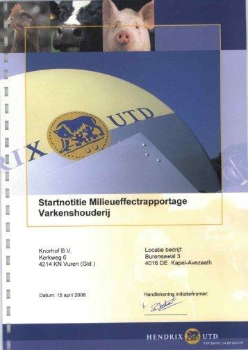 | Varkenshouderij - Commissie voor de milieueffectrapportage