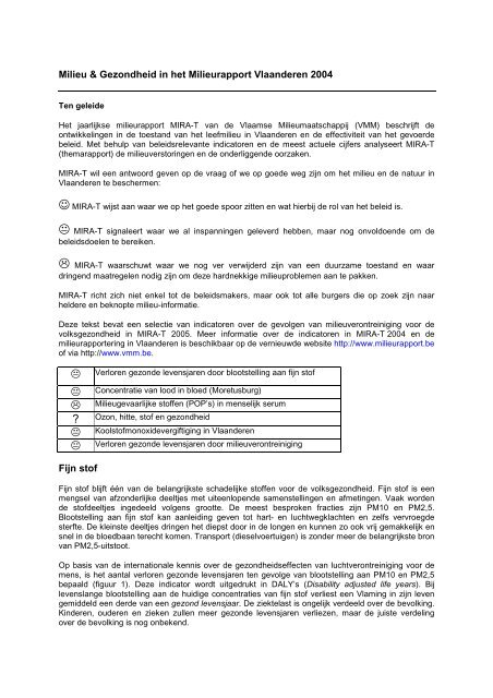 milieurapport MIRA-T van de Vlaamse ... - Groen Plus