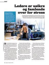 Ledere er usikre og famlende over for stress - Bispebjerg Hospital