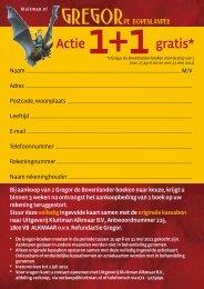 Actie 1+1 gratis* - Kluitman