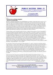Nyhetsbrev 9 - Public Access