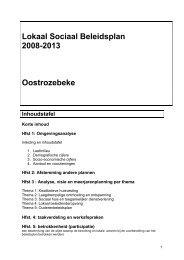 Lokaal Sociaal Beleidsplan 2008-2013 Oostrozebeke