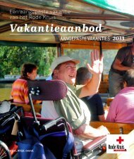 Aangepaste Vakanties 2013 - Rode Kruis-Vlaanderen