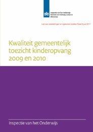 Rapport Kwaliteit gemeentelijk toezicht kinderopvang