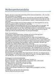 Mellemørebetændelse - Speciallæge Kirsten Brygge