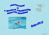 La natation à l'école primaire - Académie de Reims