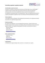 Begeleidende brief Reglement Urgentiecommissie - Woning in Zicht