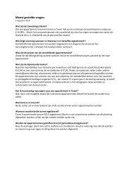 Meest gestelde vragen - Appartement Huren Tilburg