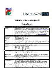Til kluborganiserede o-løbere Instruktion - Randers Orienteringsklub