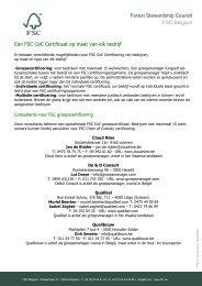 FSC certificeerders, groepsmanagers en consultants voor FSC CoC ...
