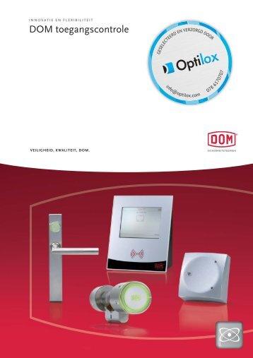 Elektronische Toegangscontrole brochure - Optilox