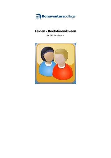 handleiding Magister - Schoolbaan - Bonaventuracollege
