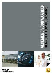 Algemene voorwaarden Renault top occasions van toepassing op ...