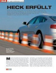 Heck erfüllt - Audi