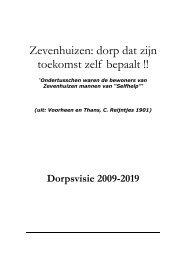 Dorpsvisie - Digitaal Dorp Zevenhuizen
