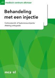 Behandeling met een injectie - Mca