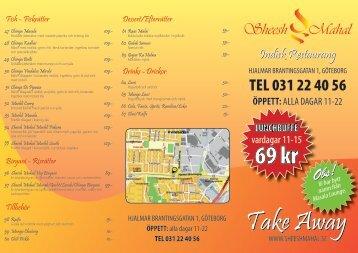 TEL 031 22 40 56 - Sheesh Mahal