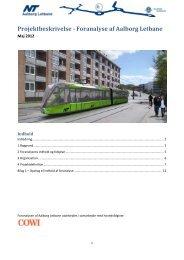 Projektbeskrivelse - Foranalyse af Aalborg Letbane - Nordjyllands ...