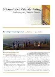Nieuwsbrief 9 najaar 2012 - Iona Stichting