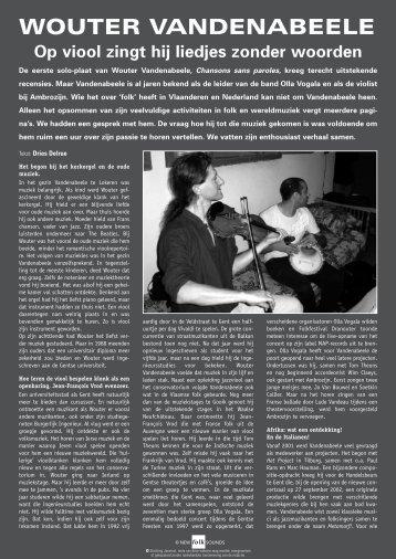 Vandenabeele, Nfs 112 - New Folk Sounds