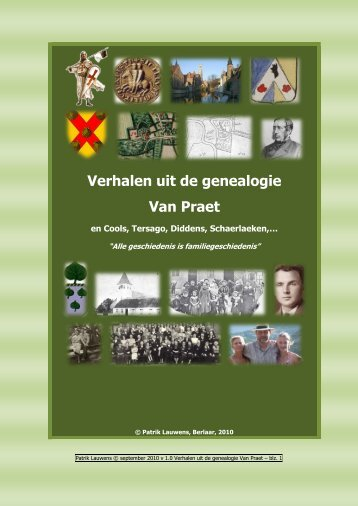 Verhalen uit de genealogie Van Praet - Laurentii