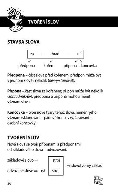 TVOŘENÍ SLOV STAVBA SLOVA TVOŘENÍ SLOV - Fragment