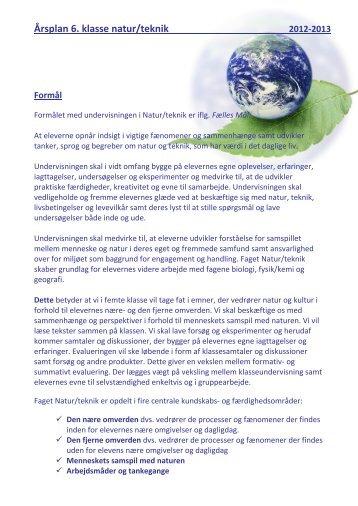Årsplan natur/teknik - Uhre Friskole